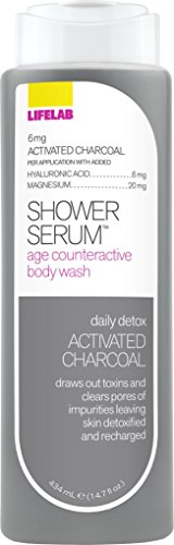 Lifelab Daily Detox Activated Charcoal Age Counteractive Body Wash Shower Serum, 14.7 Fluid (Detox Gel)