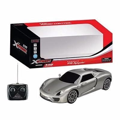 Castle Toy Rastar Silver 27.145 MHZ Porsche 918 Spyder 1:18GHz R/C Car: Toys & Games