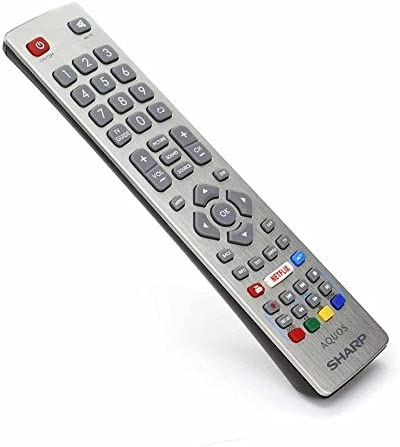 Buttons Sharp Aquos SHW//RMC//0115 Genuine Remote Control for LCD LED 3D HD Smart TVS with Netflix Youtube NET