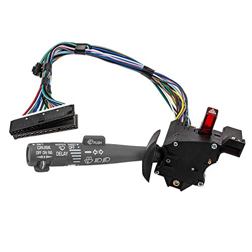(Multi-Function Combination Switch Assembly for Chevy Tahoe, Blazer, Suburban, K1500, Sierra & more, Replace# 2330814 26100985 26036312, Turn Signal, Wiper, Washers, Hazard Switch, Cruise Control )