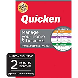Quicken Home & Business – Track Personal and Business Transactions [Amazon Exclusive] [PC Disc]