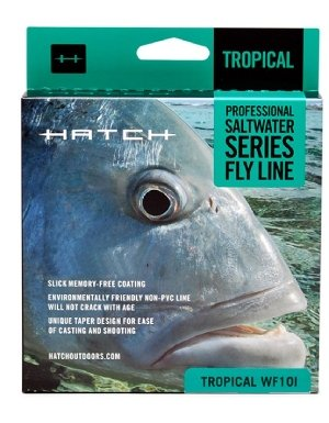 Hatch Fly Fishing Saltwater Fly Line -11wt Intermediate Aqua/Ghost Gray (Fly Hatch Fishing)