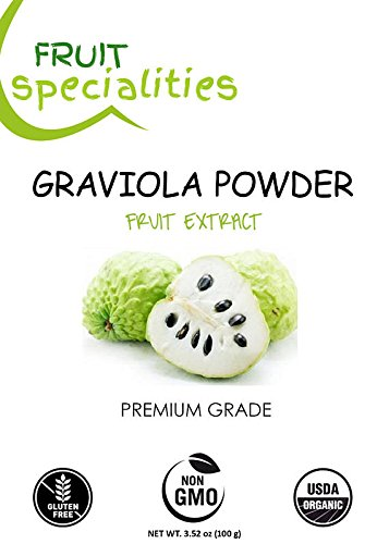 Graviola (Soursop) FRUIT Powder, All-Natural Pure Graviola Fruit Powder, Annona Muricata Guanabana (3.52 oz)