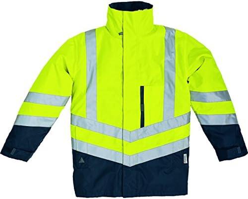 35-39 High Visibility Yellow Panoply Mens High Visibility Hi Viz Waterproof and Breathable Softshell Jacket Small