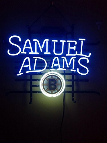 "Desung 19""x15"" Boston Bruin Samuel Adams Neon Sign Light Lamp (VariousSizes) Beer Bar Pub Man Cave Handicraft DC32"