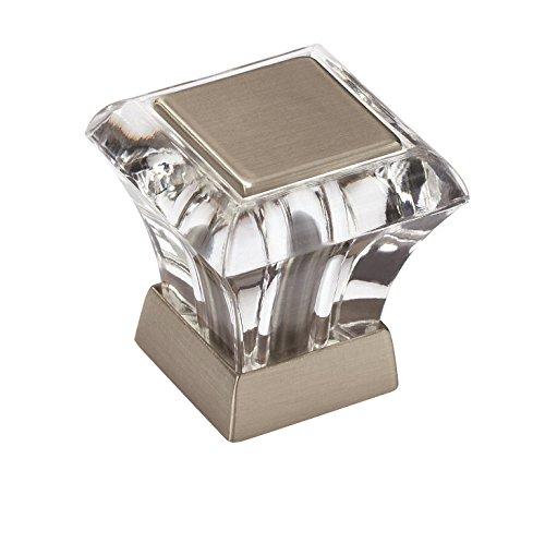 Amerock BP29460CG10 Abernathy 1-1/16 in (27 mm) Length Clear/Satin Nickel Cabinet Knob