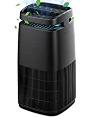 Air Purifier KioudI by Nessbase, H13 HEPA Air Purifiers for Home Air Cleaner for Pollen Smoke Dander Odors with Timer Settings Adjustable Wind Speed Portable Air Purifier for Bedroom Office Living Room
