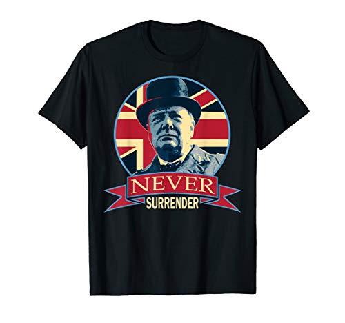 (Winston Churchill Never Surrender T-Shirt)