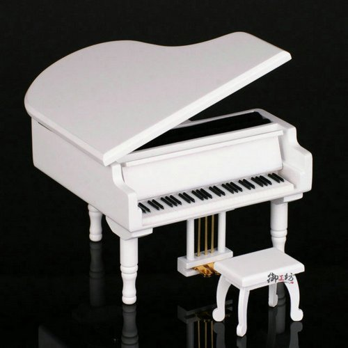 "Grand Piano Musical Box-100% Hand-Made Fine Artworks Charming Grand Piano Musical Box Plays Beautiful Song "" Rosa Salvaje "" With The Top Quality Japan Sankyo Mechanical Music Movements."
