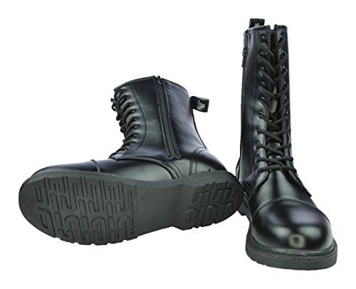 Uk Knightsbridge Avec Kranz Ionz Dark Motifs Creat Noir 10 Boots Bottes Hanf Matthias En Différents Blatt nbsp;trous twACqytf