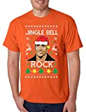 Allntrends Men's T Shirt Jingle Bell Rock Trendy Ugly Christmas Cool (3XL, Orange)