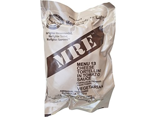 Ultimate 2018 US Military MRE Complete Meal Inspection Date January 2018 or Newer (Cheese Tortellini)