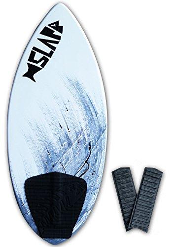 Slapfish Skimboards - Fiberglass & Carbon with Traction Deck Grip - Kids & Adults - 2 Sizes - Gray (48