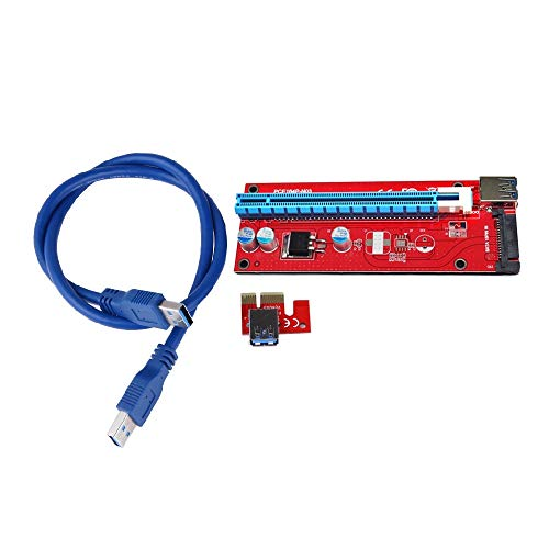 ShineBear Latest Version ver 007S Board PCI-E PCI E Express 1X to 16X Riser Card USB 3.0 Cable for Bitcoin Litecoin Mine 60cm/30cm - (Cable Length: 30cm)