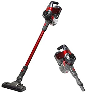 SU-VAC Cordless Lightweight 2 in 1 Wireless Stick Cyclone Vacuum Cleaner with Battery Indicator Light, Powerful Suction for Hardwood Floors Carpet, 22.2V 2200mAh Detachable Lithium Ion Battery