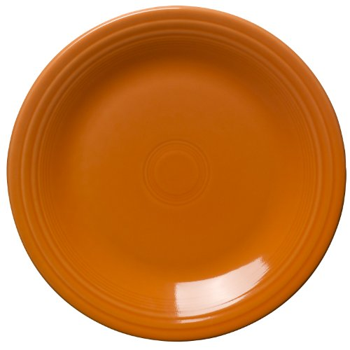 Fiesta 10-1/2-Inch Dinner Plate, Tangerine by Homer Laughlin