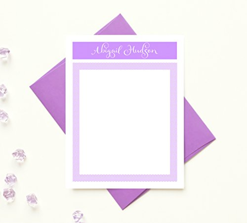 Personalized Stationary for Girls, Womens Stationary Set, Personalized Gifts for Women, Personalized Stationery Sets for Writing Letters, Personalized Stationary Set of 10 Note Cards with Envelopes (Personalized Stationery For Teachers)