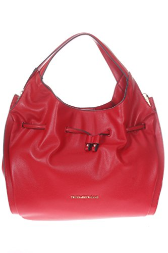 Trussardi Jeans Donna Borse A Spalla 75b003349y099999 R15 Borsa Bellflower Ecoleather Bucket Rosso