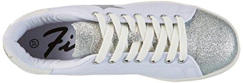 Sneaker Silver Bianco Bianco Bianco Fiorucci Donna Silver Fepm065 xpwwv5