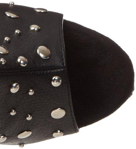 Pleaser Des Femmes De Plaisir-1018 Chaussure Polyuréthane Noir / Noir Mat