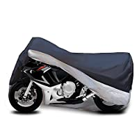 "Motorcycle Cover Fits cruiser, Tourer, Chopper Motors up to 104"" inch Long - Waterproof & Aluminum Lock Holes & Buckle - Lightweight - Protect Bikes Against Harsh Weather -"