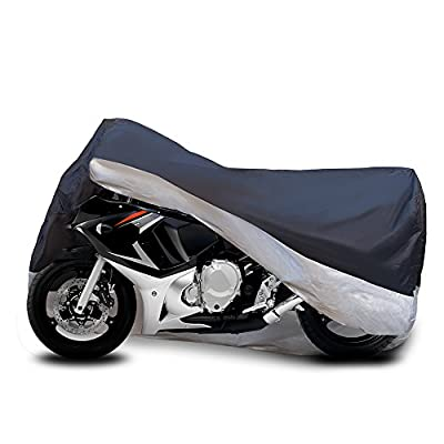 """Motorcycle Cover Fits cruiser, Tourer, Chopper Motors up to 104"""" inch Long - Waterproof & Aluminum Lock Holes & Buckle - Lightweight - Protect Bikes Against Harsh Weather -"""
