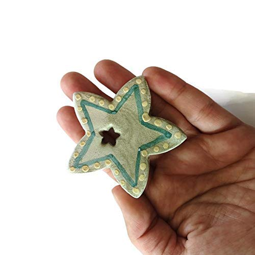 Green Star Necklace Pendant Extra Large lavaliere
