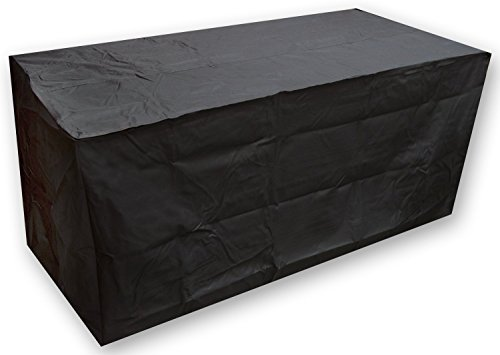 Ruichenxi  Cube Table Cover and Chair Set Patio Cover Durable and Water Resistant Patio Furniture Cover Black (155x115x65cm) by Ruichenxi