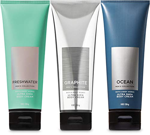 Bath and Body Works 3 Pack 2-in-1 Hair Body Wash Freshwater, Graphite and Ocean. 10 Oz.