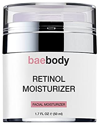 Baebody Retinol Moisturizer Cream for Face and Eye Area - With 2.5% Active Retinol, Hyaluronic Acid, Vitamin E. Anti Aging Formula Reduces Wrinkles, Fine Lines. Best Day and Night Cream 1.7 Fl. Oz.
