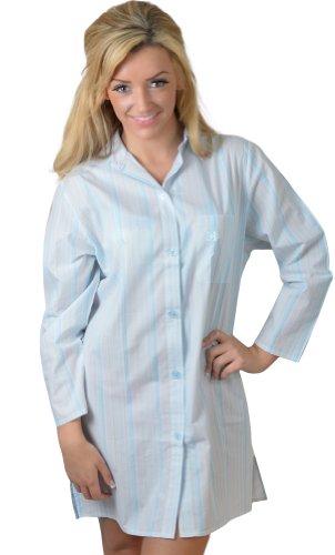 Ändern Dessous, Jasmin 100% Baumwolle Night Shirt in hellblau Hellblau