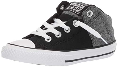 Converse Boys Kids' Chuck Taylor All Star Axel Cushioned Mid Top Sneaker Black/White/Brown 4 M US Big ()