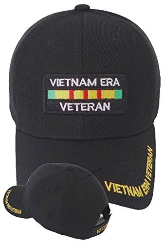 Vietnam Vet Hat Patch - Vietnam ERA Veteran Cap w/ Bumper Sticker Black Hat Army Navy Air Force Marine