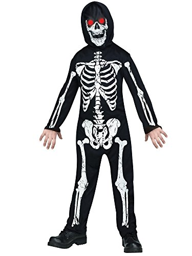 Fun World Little Boy's Fade In/Out Skeleton Costume Childrens Costume, Multi, Medium