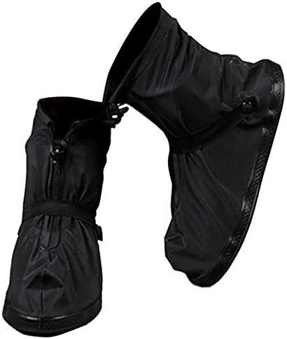 [スポンサー プロダクト][ZealBea Focus] シューズカバー 靴カバー 防水 レインブーツ アウトドア 防水靴 カバー レインカバー 滑り止め 梅雨対策 通勤 通学 自転車用 耐久性 防災 軽量 ガーデニング 庭 男女兼用 ブラック