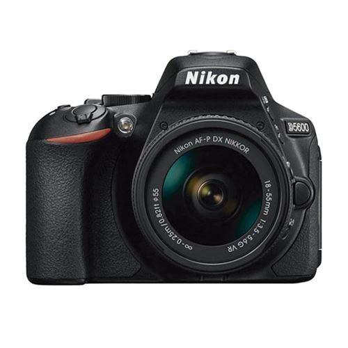 Nikon D5600 - Cámara réflex de 24 MP (DX, CMOS, Visor óptico, Montura Tipo F, SnapBridge, D-Movie y Vídeo Time-Lapse) - Kit con Objetivo AF-P VR 18-55, Estuche y Libro - Versión Nikonistas