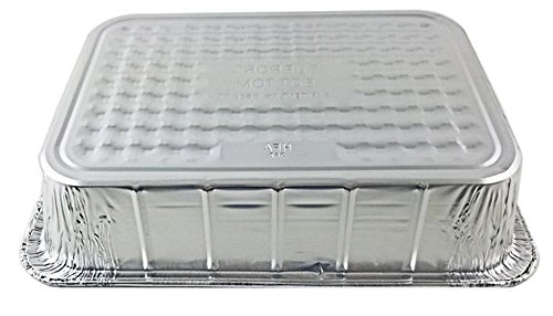Handi-Foil 14 x 10 x 3 Deep Oblong Lasagna Casserole Aluminum Pan, 100 Pack by HSA (Image #3)