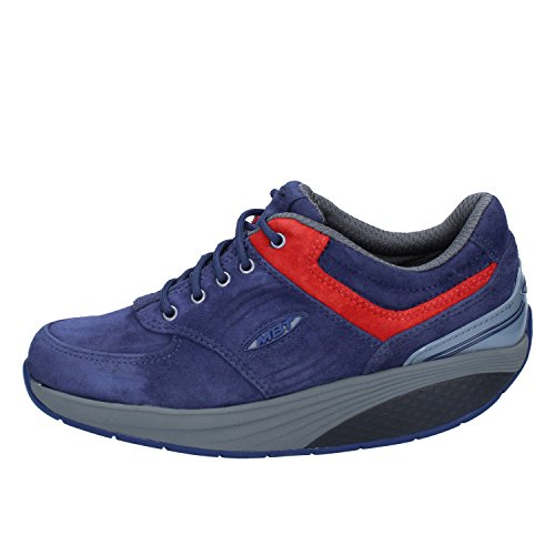 azul para Piel MBT de Zapatos mujer cordones de blue celtic IwqqprX0