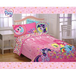 Superior My Little Pony Pony 3 Piece Single Bed Sheet Set With Padded Duvet