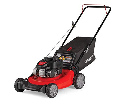 - Craftsman M105 140cc 21-Inch 3-in-1 Gas Powered Push Lawn Mower with Bagger