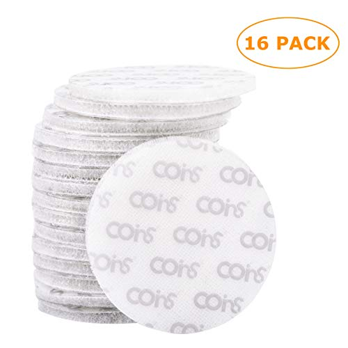 (coins Brand - 16 Pack 5cm Hook and Loop Tape Round Superior Holding Power on Smooth Surfaces, White)