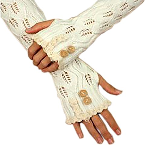 Knitting Lace Gloves - 6