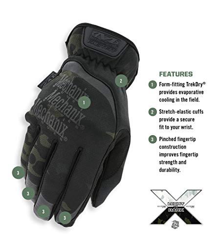 M2P-FFMC-010 MultiCam 2-Pack Work Gloves Large, Black//White Mechanix Wear