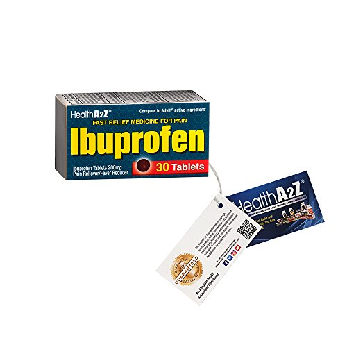 Healtha2z Ibuprofen Pain Reliever Fever Reducer Tablets  200Mg  Compare To Advil Active Ingredient  Ibuprofen 200Mg