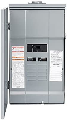 Square D By Schneider Electric Hom12m200prb Homeline 200 Amp 12 Space 12 Circuit Outdoor Main Breaker Load Center With Cover Plug On Neutral Ready Amazon Com