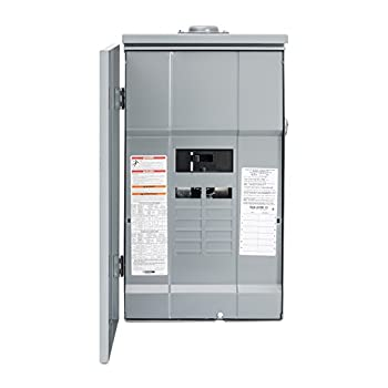 Image of Home Improvements Square D by Schneider Electric HOM12M200PRB Homeline 200-Amp 12-Space 12-Circuit Outdoor Main Breaker Load Center with Cover, Plug-on Neutral Ready