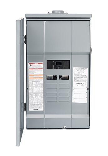 - Square D by Schneider Electric HOM12M200PRB Homeline 200-Amp 12-Space 12-Circuit Outdoor Main Breaker Load Center with Cover, Plug-on Neutral Ready