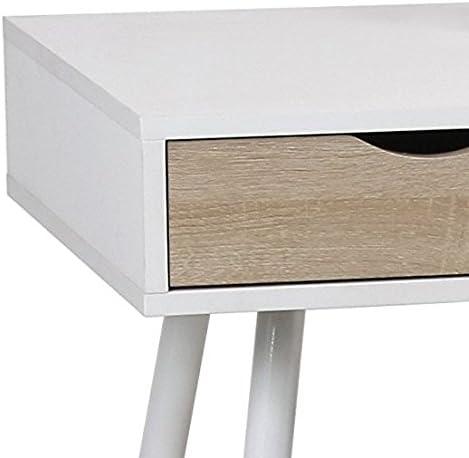 110/x 50/x 75/cm Scrivania Eurosilla UCLA Colore: Bianco e Quercia