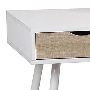 Eurosilla UCLA - Scrivania, 110x 50x 75cm, Colore: Bianco e Quercia