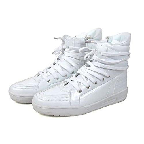 Moda Cordones Blanco Zapato Los Talón Plano Con Puro Zapatos Color Casuales Hombres De Deporte EwqHRq8O